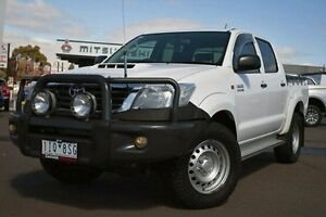 2012 Toyota Hilux KUN26R MY12 SR Double Cab White 4 Speed Automatic Utility Nunawading Whitehorse Area Preview