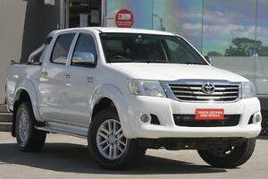 2012 Toyota Hilux GGN25R MY12 SR5 (4x4) Glacier White 5 Speed Automatic Dual Cab Pick-up Old Guildford Fairfield Area Preview