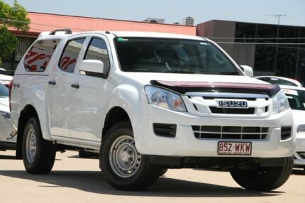 2012 Isuzu D-MAX MY12 SX Crew Cab White 5 Speed Sports Automatic Utility