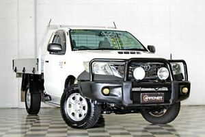 2012 Toyota Hilux KUN26R MY12 SR (4x4) White 4 Speed Automatic Cab Chassis Burleigh Heads Gold Coast South Preview