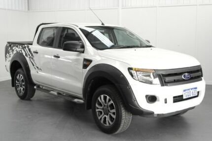 2014 Ford Ranger PX XL Double Cab 4x2 Hi-Rider White 6 Speed Sports Automatic Utility Rockingham Rockingham Area Preview