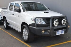 2011 Toyota Hilux KUN26R MY10 SR White 4 Speed Automatic Utility Claremont Nedlands Area Preview