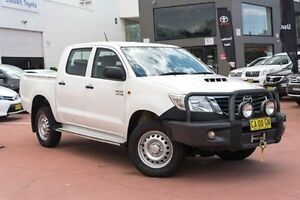 2014 Toyota Hilux KUN26R MY14 SR Double Cab White 5 Speed Automatic Utility Rockdale Rockdale Area Preview