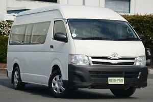 2010 Toyota Hiace KDH223R MY10 Commuter High Roof Super LWB White 4 Speed Automatic Bus Acacia Ridge Brisbane South West Preview