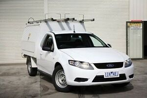 2010 Ford Falcon FG Super Cab White 5 Speed Sports Automatic Cab Chassis Seaford Frankston Area Preview