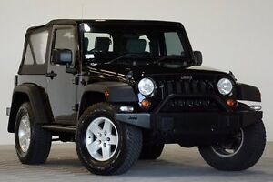 2008 Jeep Wrangler JK MY08 Sport (4x4) Black 6 Speed Manual Softtop Coopers Plains Brisbane South West Preview