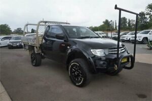 2014 Mitsubishi Triton MN MY15 GLX Club Cab Black 5 Speed Manual Cab Chassis Elderslie Camden Area Preview