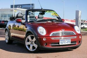 2007 Mini Cabrio R52 MY05 Cooper S Red 6 Speed Sports Automatic Convertible East Rockingham Rockingham Area Preview