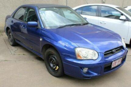 2004 Subaru Impreza S MY04 GX Blue Manual Sedan Underwood Logan Area Preview