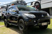 2017 Mitsubishi Triton MQ MY17 GLS Double Cab Sports Edition Black/Grey 5 Speed Sports Automatic Woolloongabba Brisbane South West Preview