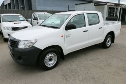 2015 Toyota Hilux TGN16R MY14 Workmate Double Cab 4x2 White 4 Speed Automatic Utility Cheltenham Kingston Area Preview