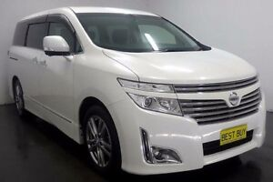 2012 Nissan Elgrand TE52 Highwaystar White Constant Variable Wagon Cabramatta Fairfield Area Preview
