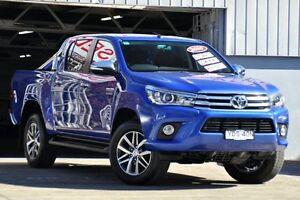 2016 Toyota Hilux GUN126R SR5 Double Cab Blue 6 Speed Sports Automatic Utility Mosman Mosman Area Preview