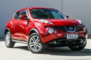 2013 Nissan Juke F15 MY14 ST 2WD Red 1 Speed Constant Variable Hatchback