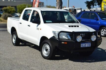 2013 Toyota Hilux KUN16R MY12 SR Double Cab White 5 Speed Manual Utility