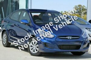 2016 Hyundai Accent RB3 MY16 Active Blue 6 Speed Constant Variable Sedan Osborne Park Stirling Area Preview