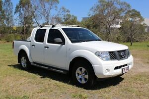 2007 Nissan Navara D40 RX White 6 Speed Manual Utility Ormeau Gold Coast North Preview