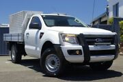 2012 Ford Ranger PX XL White 6 Speed Manual Cab Chassis Slacks Creek Logan Area Preview