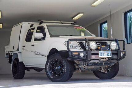 2012 Nissan Navara D40 S6 MY12 ST White 6 Speed Manual Utility