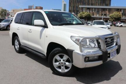 2011 Toyota Landcruiser UZJ200R 09 Upgrade Sahara (4x4) Crystal Pearl 5 Speed Automatic Wagon Northbridge Perth City Area Preview