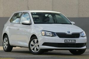 2016 Skoda Fabia NJ 81 TSI White 7 Speed Auto Direct Shift Hatchback Wolli Creek Rockdale Area Preview