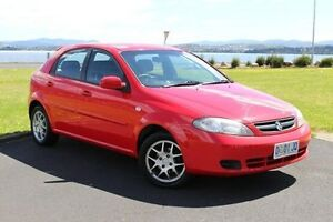 2007 Holden Viva JF MY08 Red 5 Speed Manual Hatchback Invermay Launceston Area Preview