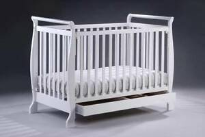 Brand New 3in1 Wooden Baby Cot Crib Toddler Bed & Spring Mattress Auburn Auburn Area Preview