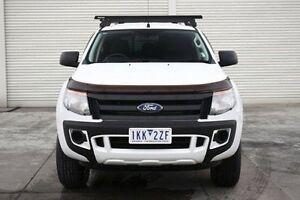 2014 Ford Ranger PX XL Double Cab 4x2 Hi-Rider White 6 Speed Sports Automatic Utility Seaford Frankston Area Preview