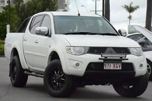 2014 Mitsubishi Triton MN MY15 GLX-R Double Cab White 5 Speed Manual Utility Macgregor Brisbane South West Preview