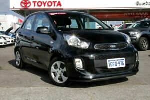 2016 Kia Picanto TA MY17 SI Black 4 Speed Automatic Hatchback Osborne Park Stirling Area Preview