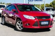 2011 Ford Focus LW Trend PwrShift Red 6 Speed Sports Automatic Dual Clutch Sedan Pearsall Wanneroo Area Preview