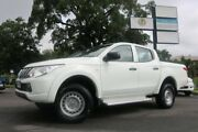 2015 Mitsubishi Triton MQ MY16 GLX Double Cab White 5 Speed Sports Automatic Utility Earlville Cairns City Preview
