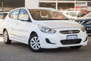 2016 Hyundai Accent RB4 MY16 Active White 6 Speed Constant Variable Hatchback Osborne Park Stirling Area Preview