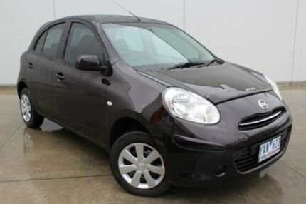 2011 Nissan Micra K13 ST Prague Nightshade 4 Speed Automatic Hatchback Berwick Casey Area Preview