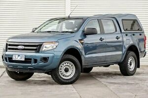 2013 Ford Ranger PX XL Double Cab 4x2 Hi-Rider Blue 6 Speed Sports Automatic Utility Seaford Frankston Area Preview