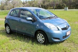 2008 Toyota Yaris NCP90R MY09 YR Blue 4 Speed Automatic Hatchback Ormeau Gold Coast North Preview