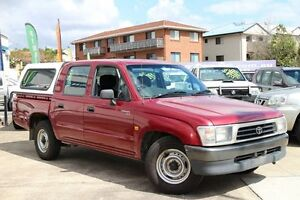 1999 Toyota Hilux RZN149R Red 4 Speed Automatic Utility Greenslopes Brisbane South West Preview