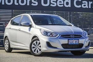 2016 Hyundai Accent RB4 MY16 Active Silver 6 Speed Constant Variable Hatchback Maddington Gosnells Area Preview