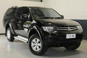 2012 Mitsubishi Triton MN MY12 GLX Double Cab Black 4 Speed Automatic Utility Blair Athol Port Adelaide Area Preview