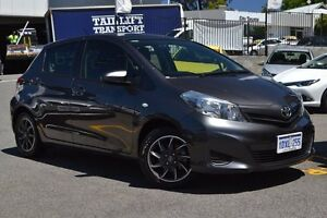 2011 Toyota Yaris NCP130R YR Graphite 5 Speed Manual Hatchback Claremont Nedlands Area Preview