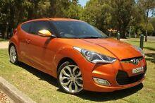 2013 Hyundai Veloster FS MY13 Orange 6 Speed Auto Dual Clutch Coupe Homebush Strathfield Area Preview