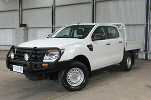2011 Ford Ranger PX XL Double Cab White 6 Speed Manual Utility Invermay Launceston Area Preview