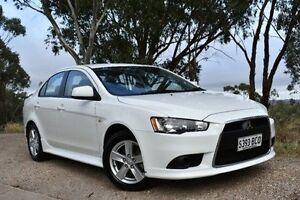 2014 Mitsubishi Lancer CJ MY14 ES White 6 Speed Constant Variable Sedan St Marys Mitcham Area Preview