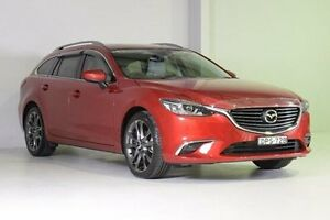 2016 Mazda 6 GJ1032 GT SKYACTIV-Drive Red 6 Speed Sports Automatic Wagon Wadalba Wyong Area Preview