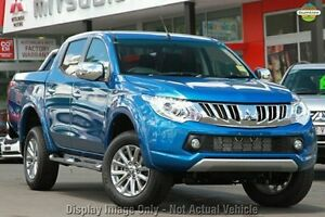 2016 Mitsubishi Triton MQ MY16 Upgrade GLS (4x4) Impulse Blue 5 Speed Automatic Dual Cab Utility Springwood Logan Area Preview