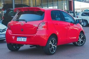 2010 Toyota Yaris NCP90R MY10 YR Red 5 Speed Manual Hatchback Wangara Wanneroo Area Preview