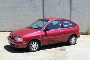 1999 Ford Festiva WF Trio Burgundy 3 Speed Automatic Hatchback Knoxfield Knox Area Preview