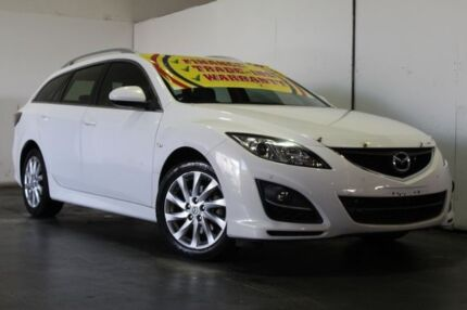 2012 Mazda 6 GH MY11 Touring White 5 Speed Auto Activematic Wagon