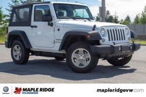 2015 Jeep Wrangler Sport ONE OWNER, NO ACCIDENTS, BC CAR!