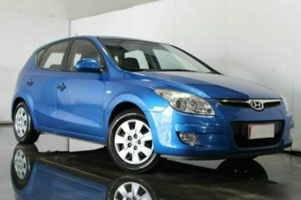 2009 Hyundai i30 FD MY09 SX Blue 4 Speed Automatic Hatchback Underwood Logan Area Preview